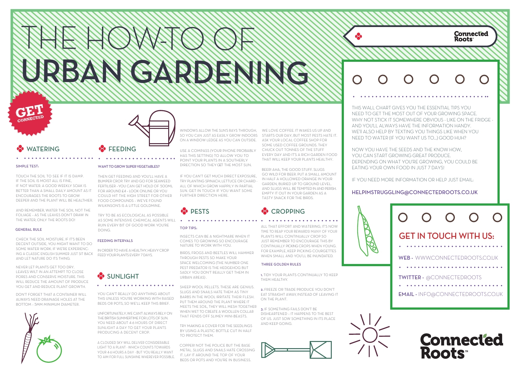 Connected Roots - the how to of urban gardening